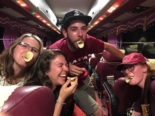 As we are representing CBT Vietnam, @capilanou and the PATA Foundation we all know how important it is to always stay professional when we are on our project trips 😉  This is the group debriefing on the bus after a successful research and information gathering trip in #Sapa. 📷cred (and instigated by) Dr. Chris Bottrill  #tourismpeoplehavemorefun #duckface #laysfordays