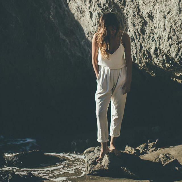 SUNDAY MOOD    Chilling out in some OZMA raw silk.  #californialove #weekend #surfergirl  #madeinusa #essentials