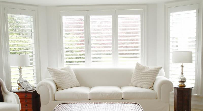 plantation modern shutters with interior window concept