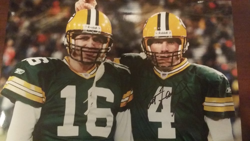 Favre, always the prankster...  Lambeau Field, 2005