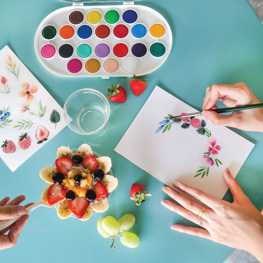 PA x Natalie Studio - November 2017This workshop has ended.Fruits and Floral Watercolour workshop.