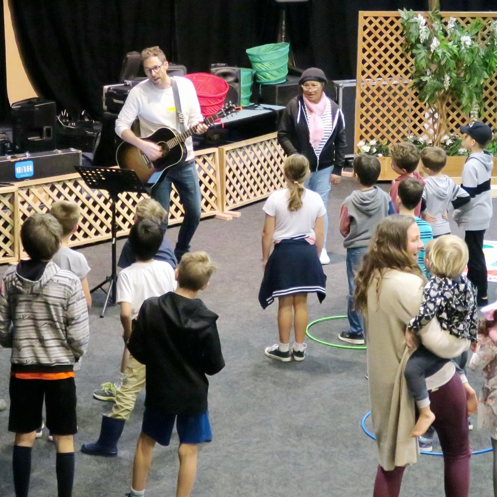 Music time at Shore's school holiday program