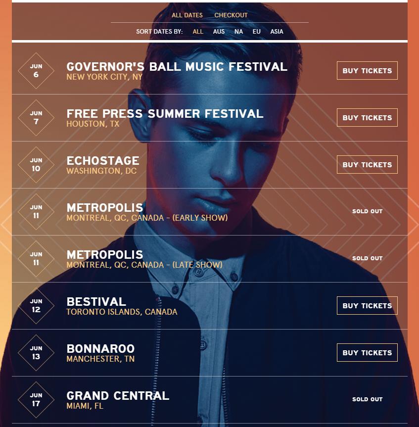 Flume Tour Dates