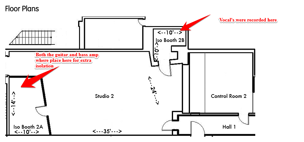 Floor plan for studio B Cello Studios