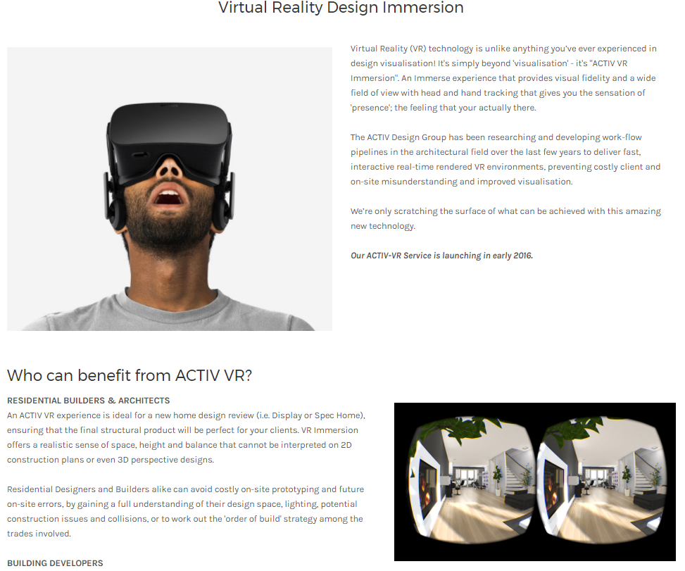 "SFX  and implementation for Activ VR ""Currently in Development"""