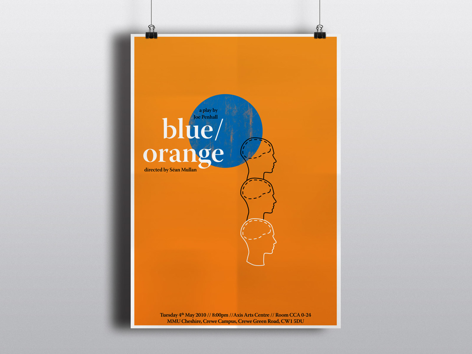 Poster design freelance - Blue Orange Poster Jpg