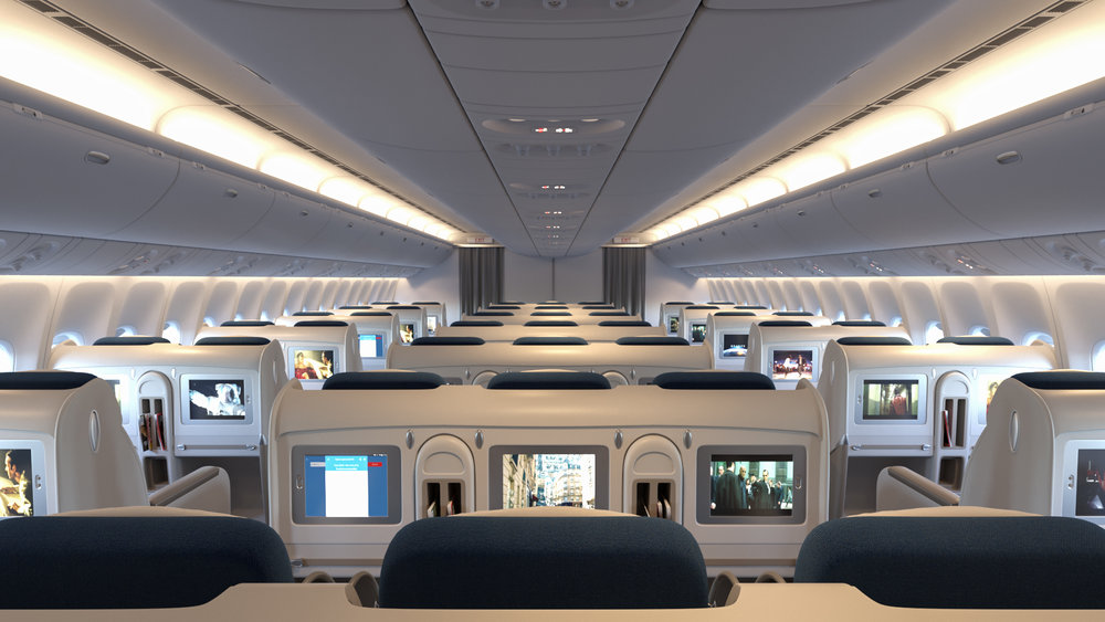 Marvelous 3D Visualisation Of A Boeing 777 Aircraft Interior. Modeling And Rendering  In 3ds Max U0026