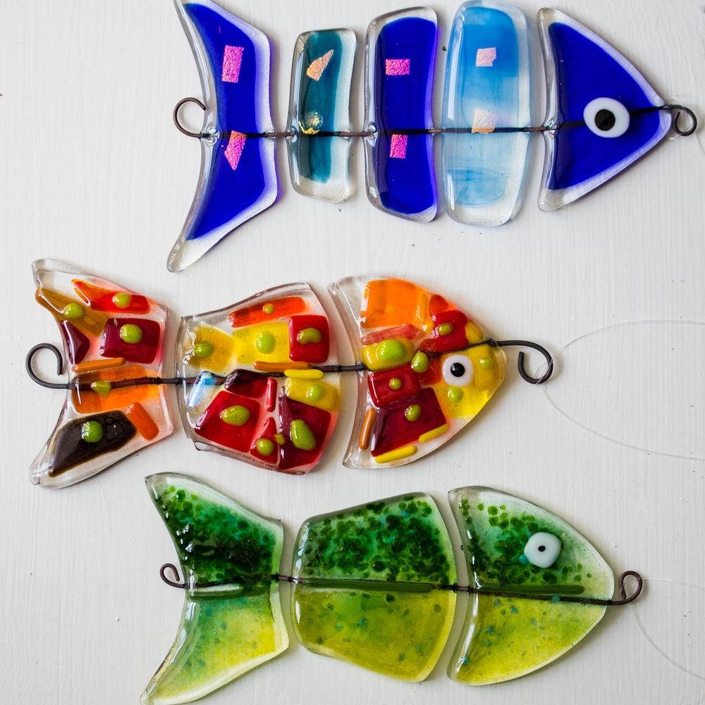 Funky Fish Helen Grierson Fused Amp Leaded Glass