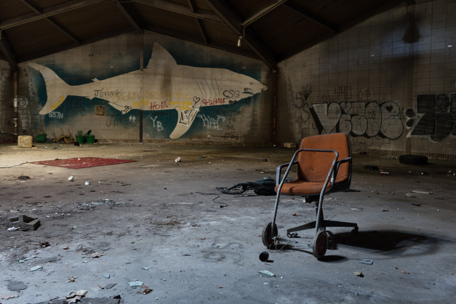 A Seat at the Abandoned Aquarium
