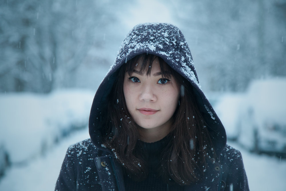 Gabby in Snow