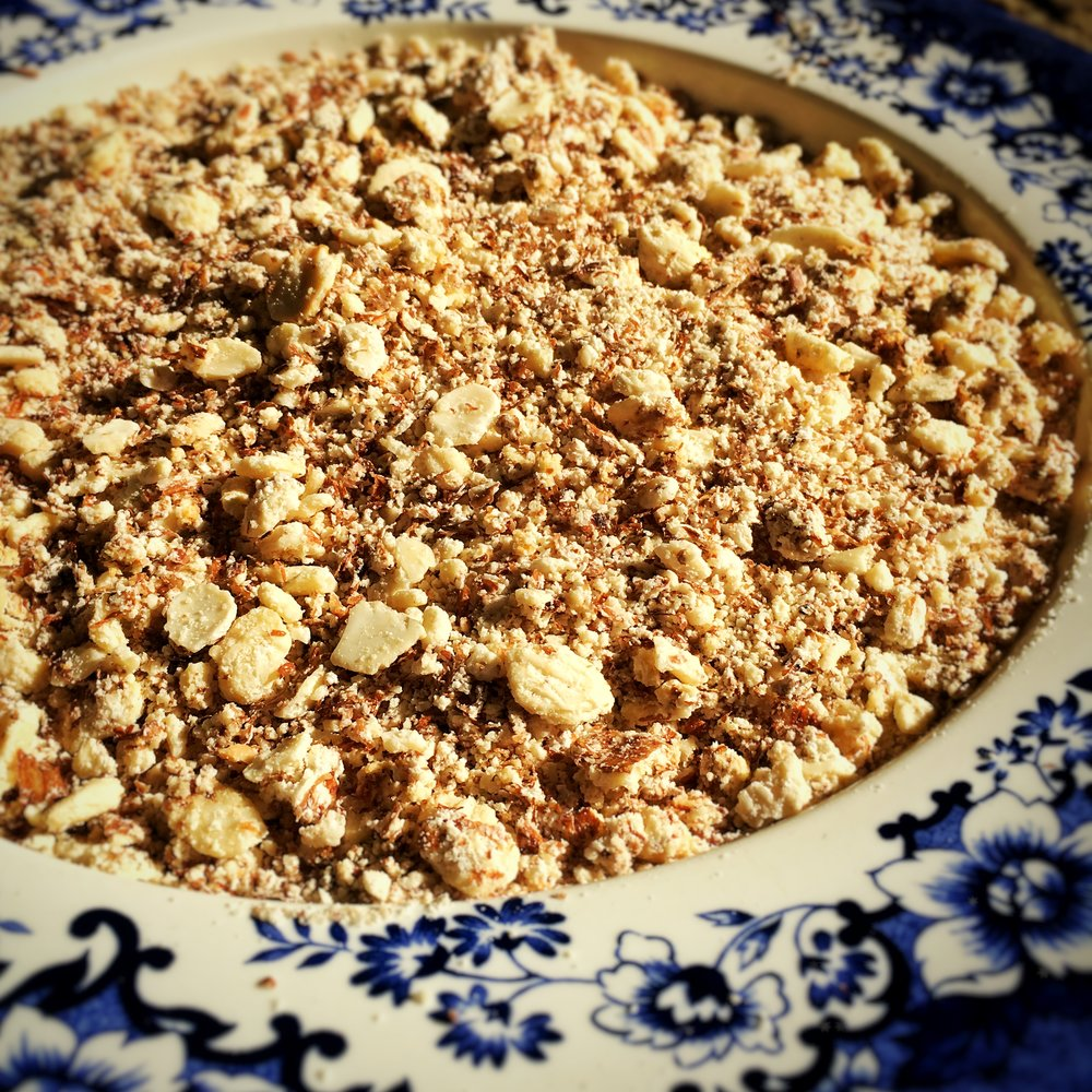 Dry Almonds in the oven or dehydrator -