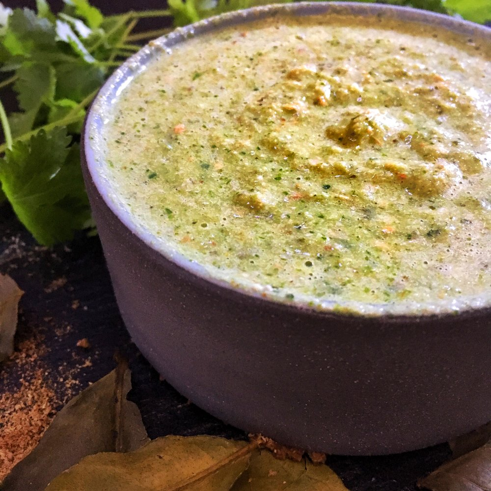 Vegan Thai Green Curry Paste - Blend all ingredients in the blender