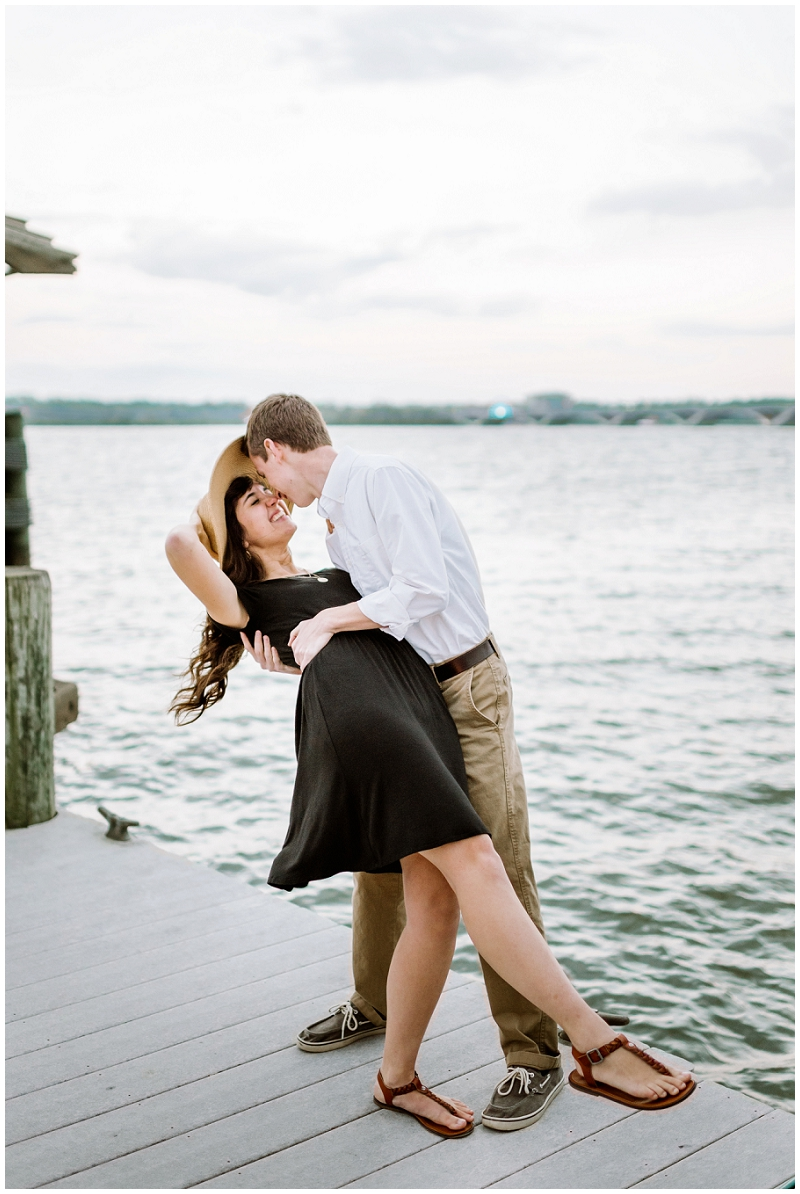 Old Town Alexandria | Engagements on docks by the Potomac River