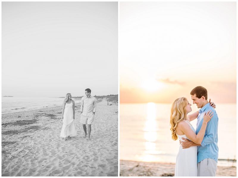 Romantic Sunset Beach Engagements |First Landing State Park| Virginia Beach
