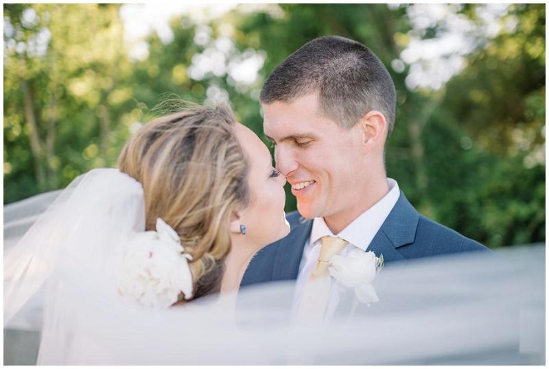 Romantic Bride and Groom Photo | Bridal Veil