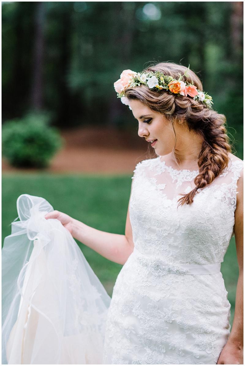 Whimsical Boho Chic Bridal Portraits | Light Pink Flower Crown