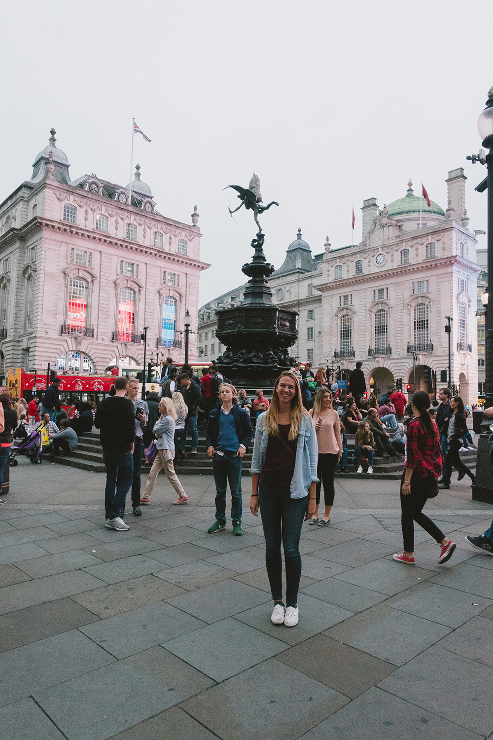Piccadilly Circus in the evening.