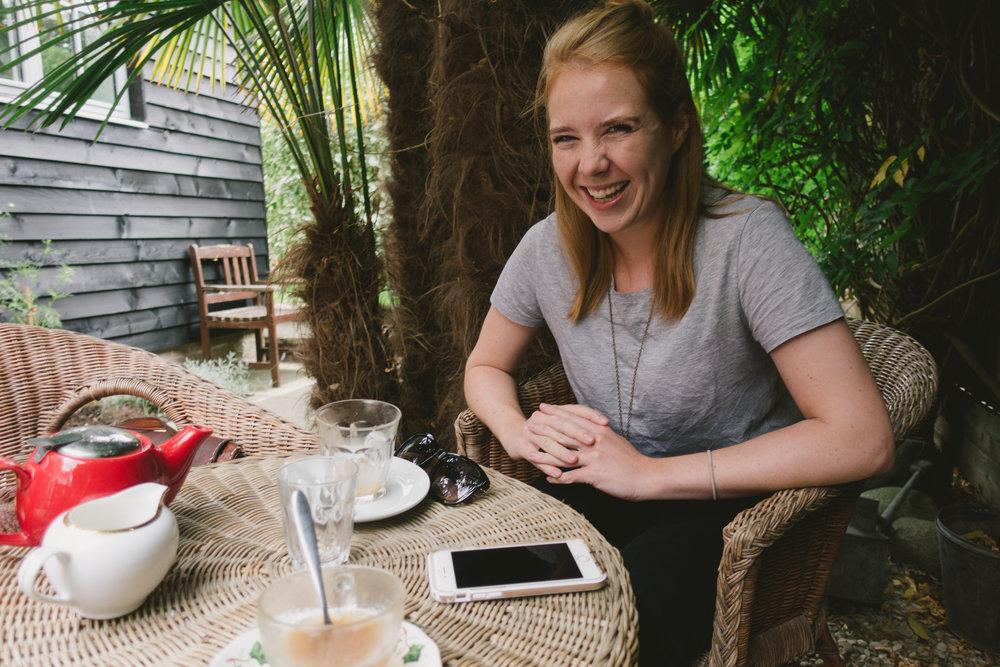 Tea with Sheridan.