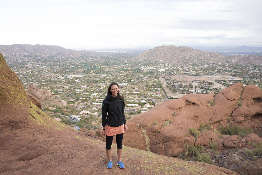 That's me hiking in a dress last December.