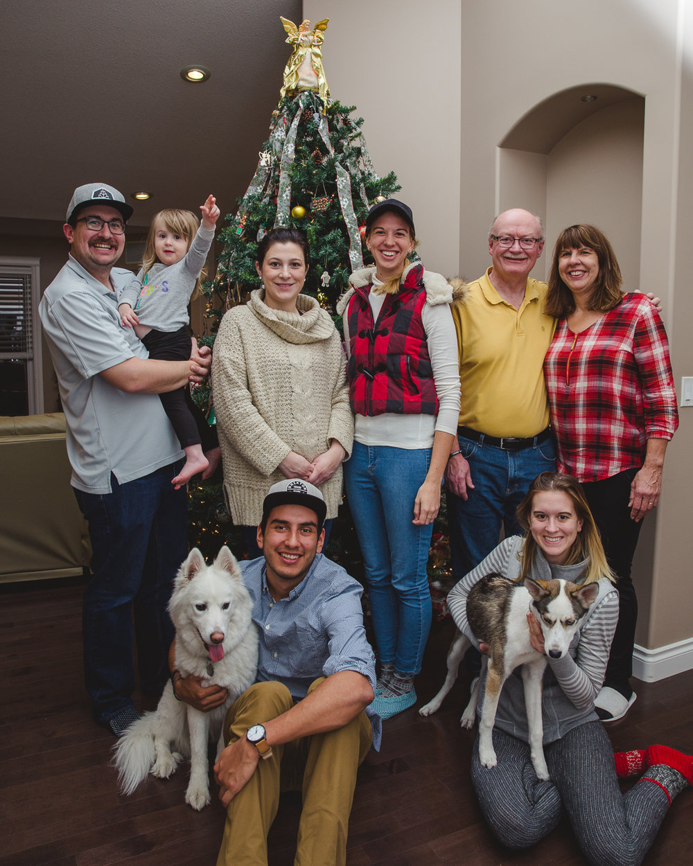 My wonderful family and I on Christmas (missing: Looch the dog).