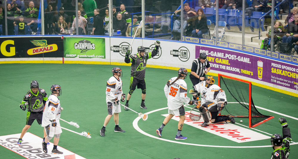 The second quarter continued in the same light with fans still engaged from the moment they stepped in the building, never missing a cue to chant, cheer, or pound their fist against their chest after a goal. Rush kept up their two goal lead entering half time with a 6-4 score.