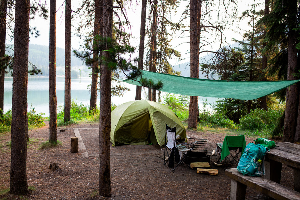 Camping and Swimming at Two Jack Lake - August 1view Blog