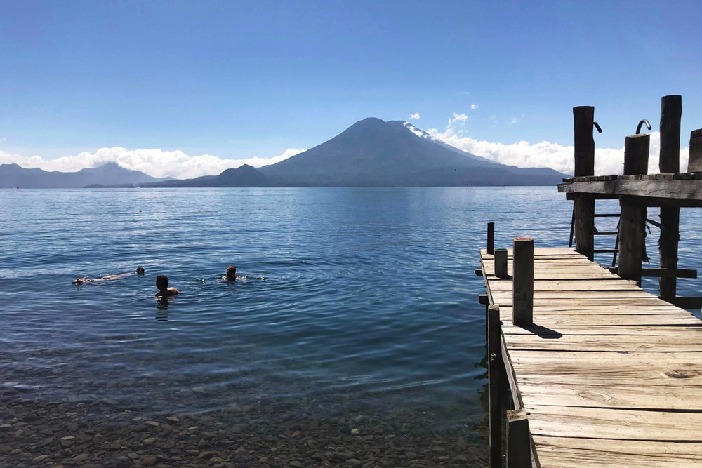 Relaxing in Lake Atitlan with Sophie, Lisa, and Romy - November 6