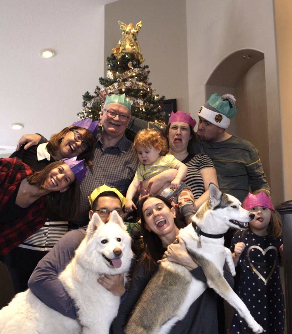 Christmas morning with my favourite people - December 25