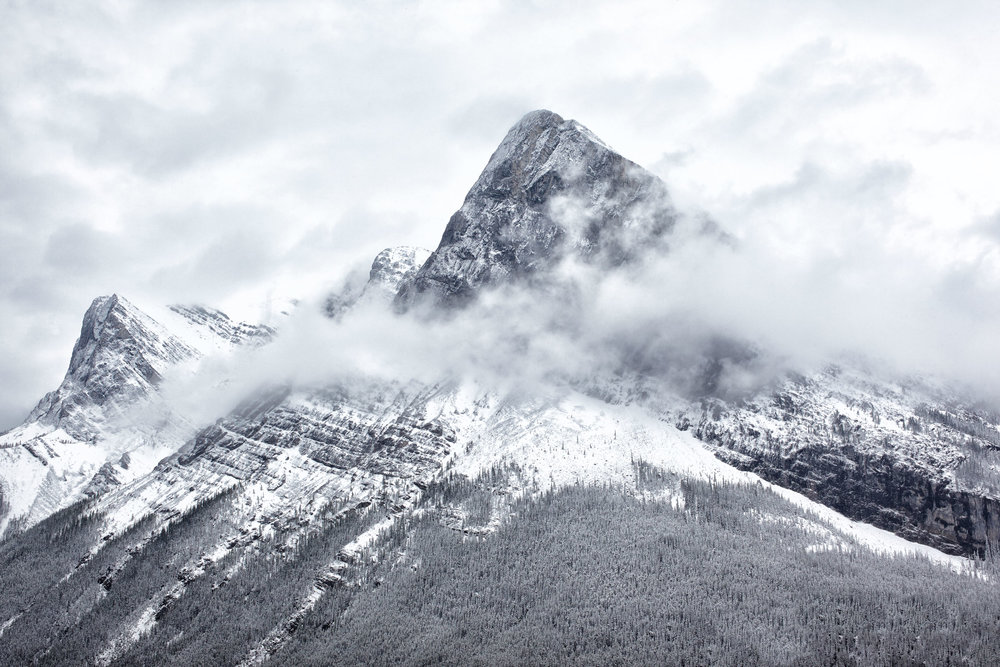First Snow Fall on Ha Ling Peak, Canmore, Alberta