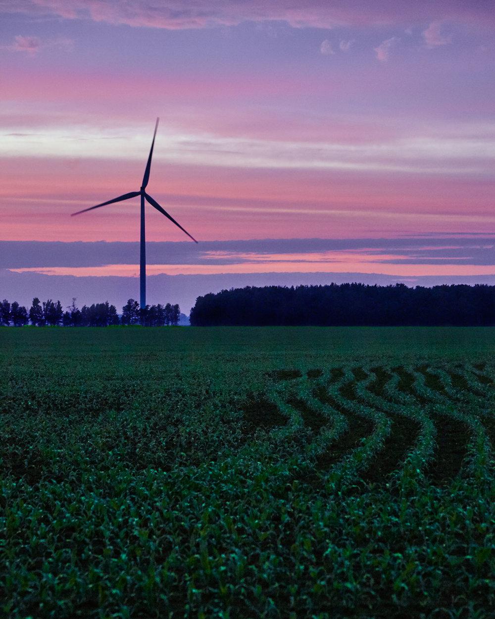 Sunset over farmland, Brinston, Ontario