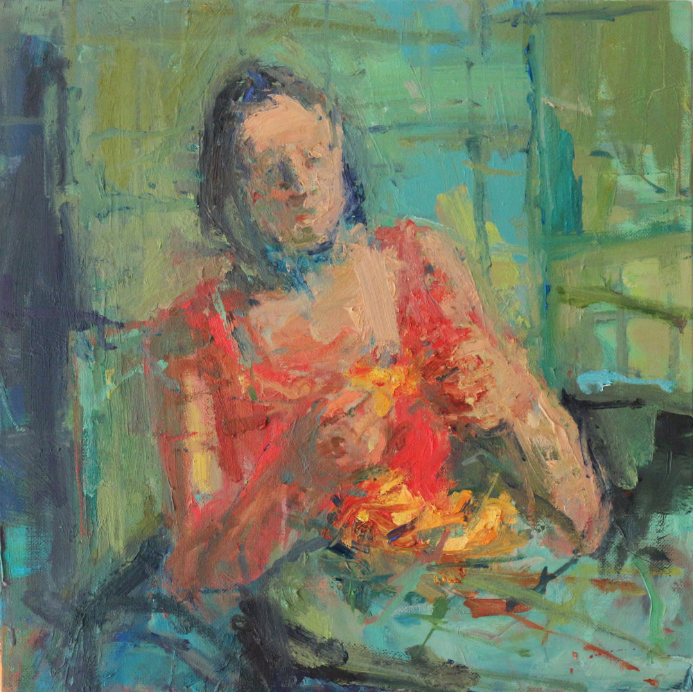 Peeling 2 - Oil on Linen 50 x50 cm