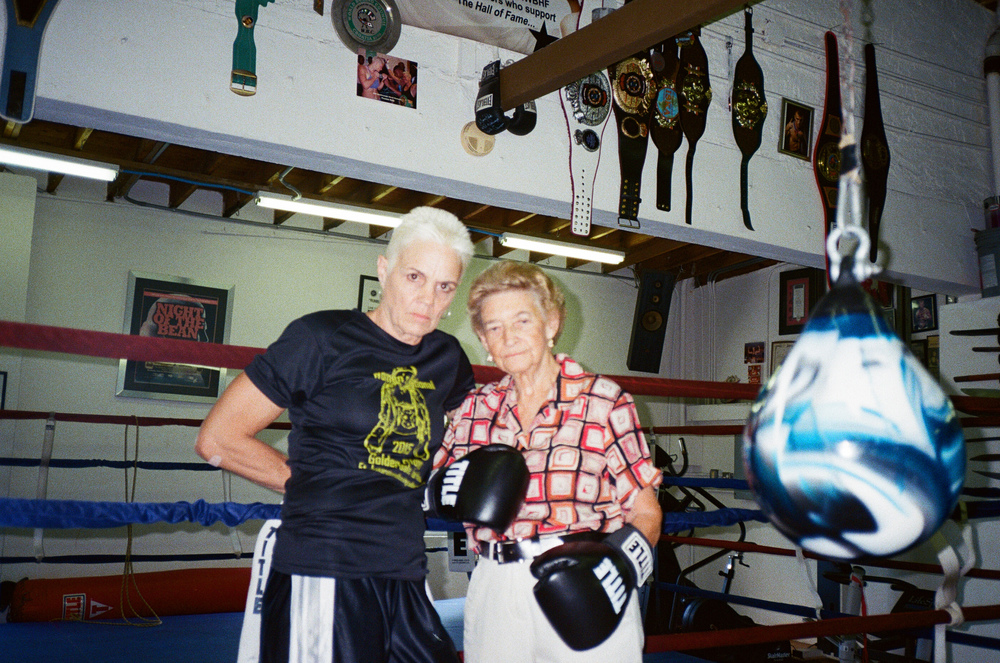 Thats my boxing-mom/coach Bonnie w Barbara... Bonnie is a (4x) world champion too.