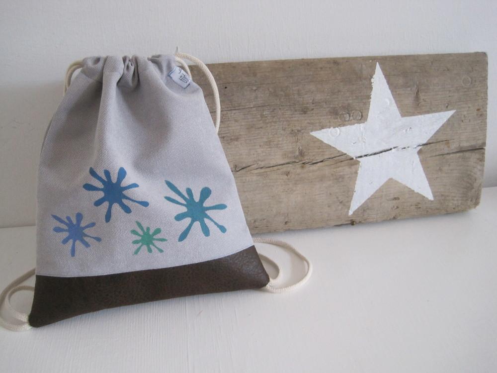 Kinderbeutelrucksack mit deinem Wunschnamen und Motiv  19€