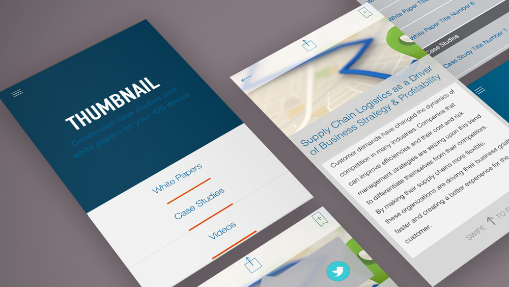 Project Thumbnail: a content marketing iOS app