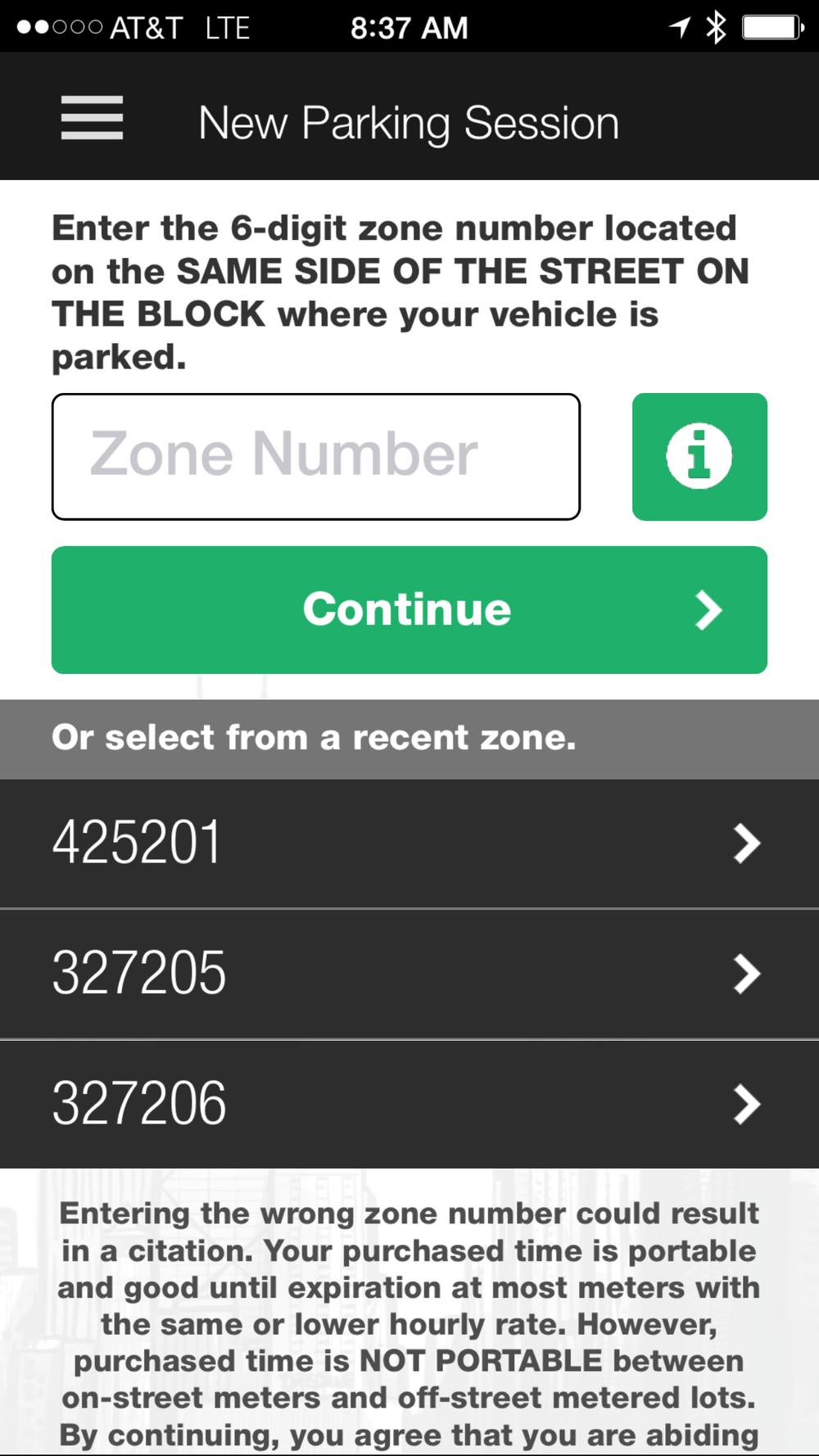 Current UI design of app