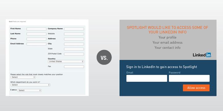 Current form fields versus LinkedIn API