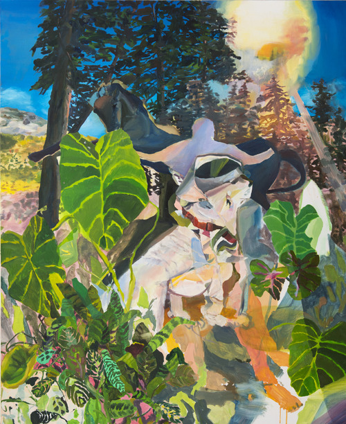 Hiking Bumpass Hell  , 2012, oil on canvas, 54 x 44 inches
