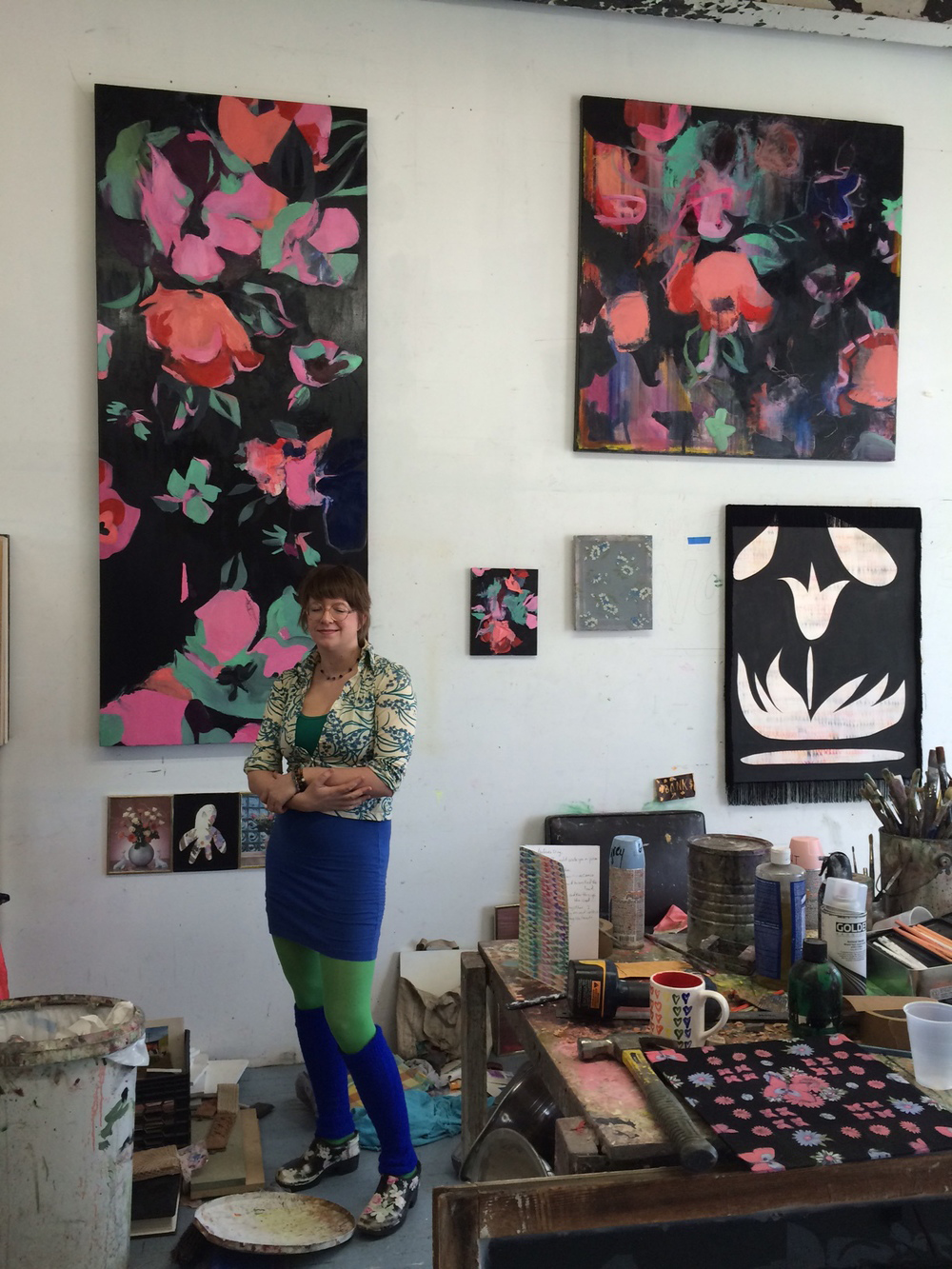 Heather Garland in her Greenpoint Studio