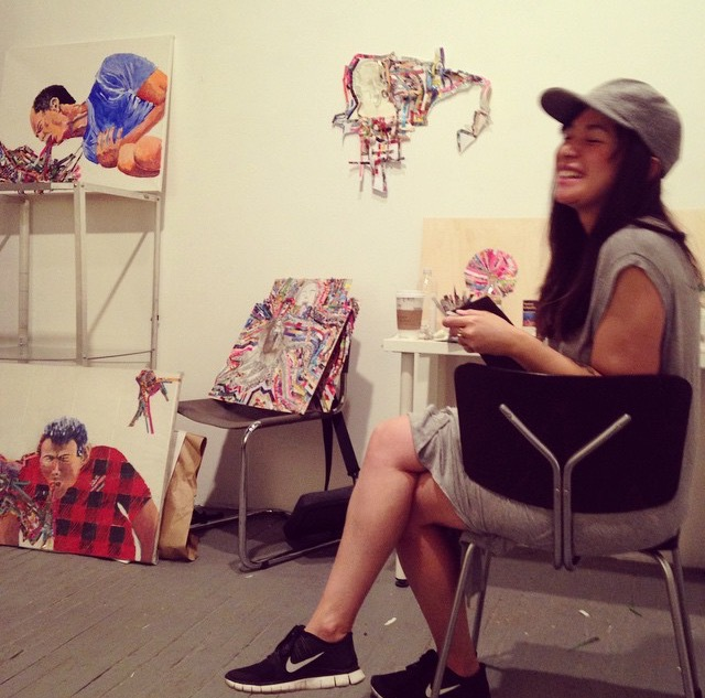 Erin Hael at her Studio in Brooklyn, NY