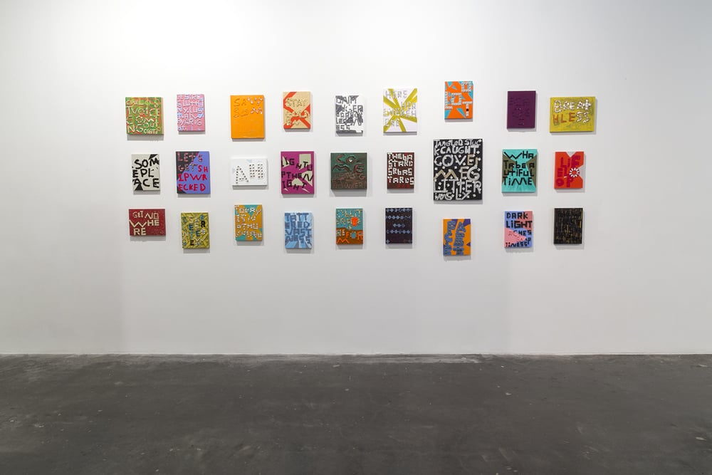 Samuel Jablon: WORD:PLAY, Freight + Volume, New York, NY August 21 - September 27, 2014
