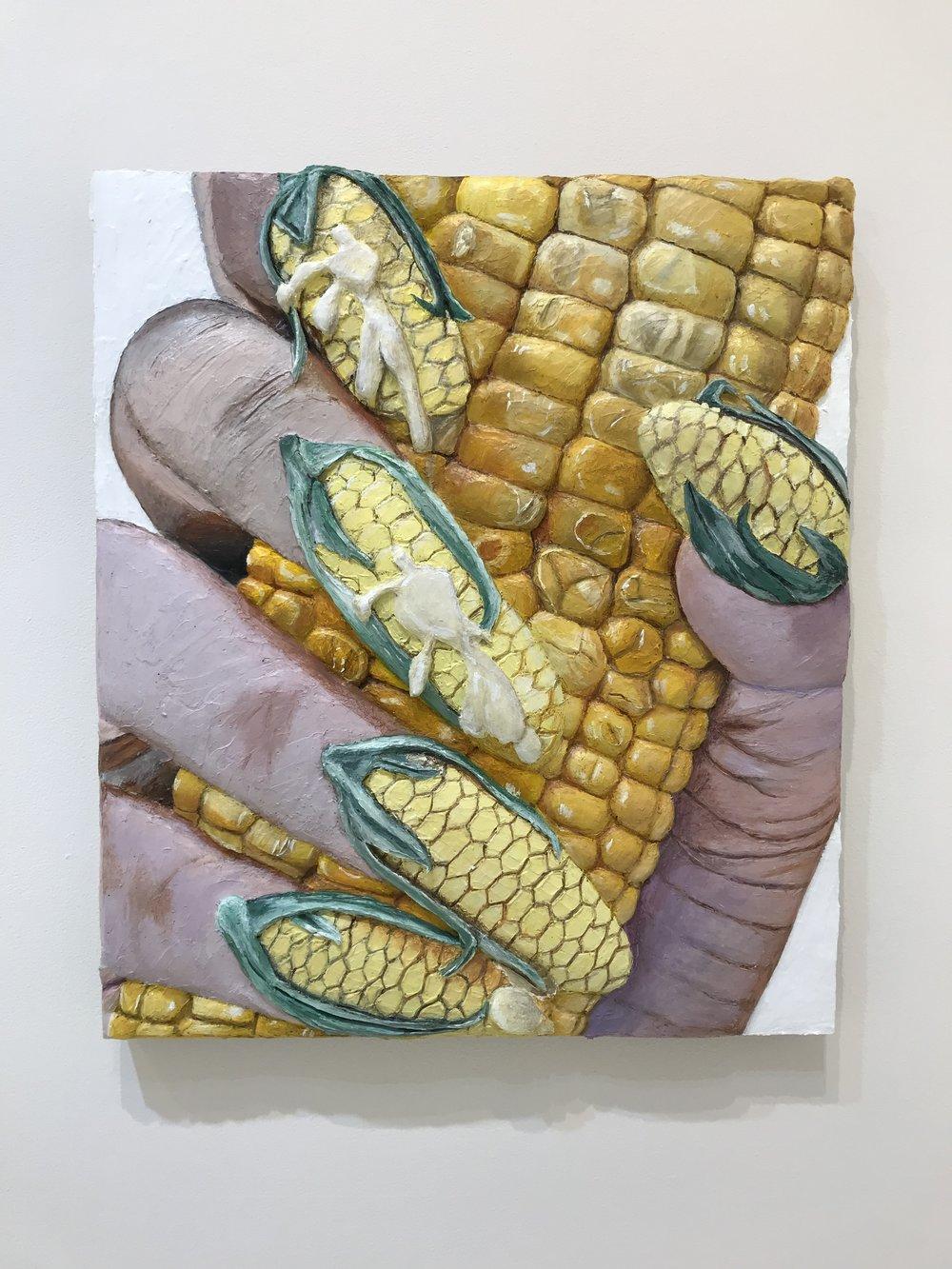 Corn Nails , 2019  Acrylic on panel  Photo by Nick Naber