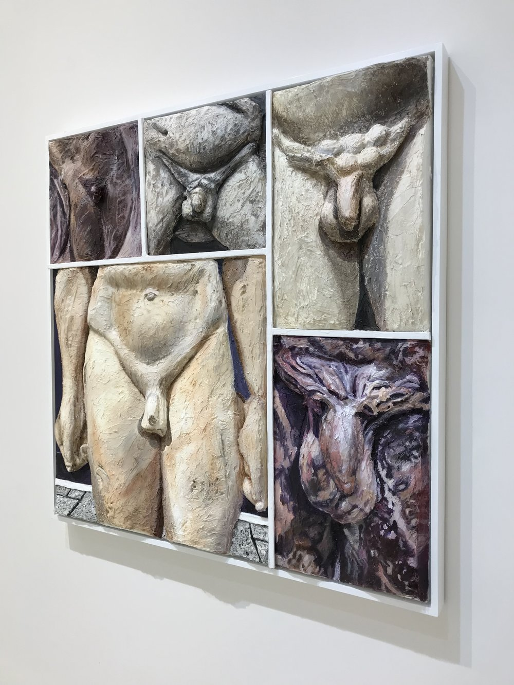 Crotch Shots at the Getty Villa,  2014  Acrylic on canvas on panel with wood frame  Photo by Nick Naber