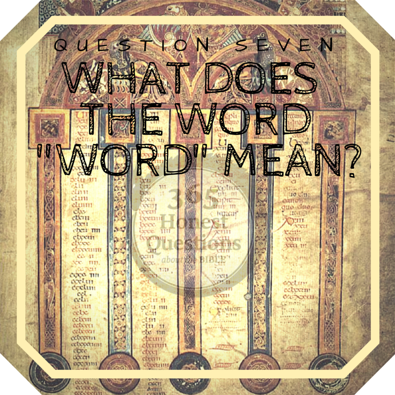 "365 Honest Questions, Question 7: What does the word ""word"" mean?"