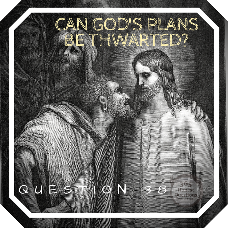 365 Honest Questions, Question 38: Can God's Plans Be Thwarted?