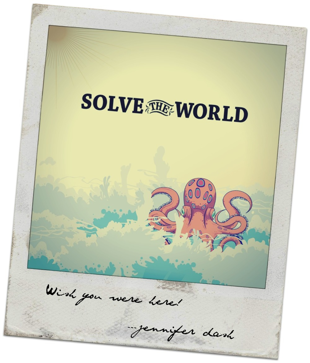 Solve the World Polaroid