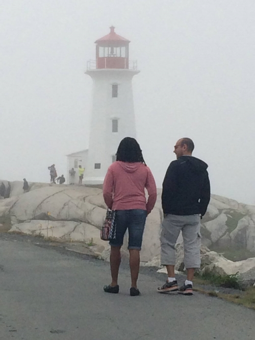 With Ryan at Peggy's Cove