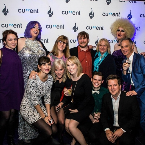 At an agency awards bash in Halifax.
