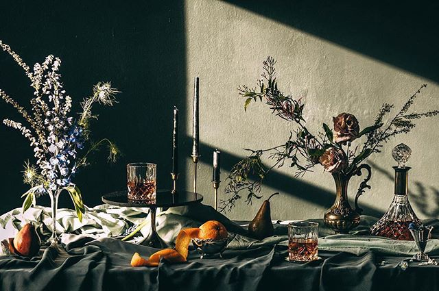 We are crushing on @shannonshootscocktails work so hard recently. This is called 'Whisky Neat' from a Dutch masters inspired project. Great stuff! - - - - #photographer #whiskyneat #womenofsubstance #smallbusiness