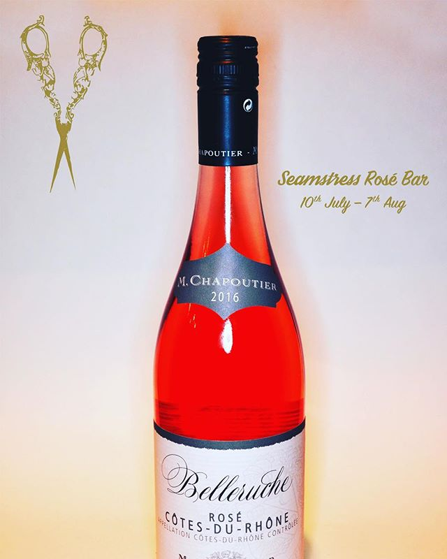 Sometimes you just need a solid, straight up the middle, Rhone rosé. When that time comes, it's hard to beat the wines of Chapoutier. Available by the glass every night until August 6th in the Seamstress Rosé bar. - - - #chapoutier #belleruche #rhônewine