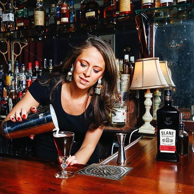 @pamwiz whipping up an Irish coffee in the nook. - - - #irishcoffee #winterwarmer #keepitsimple #slaneirishwhiskey